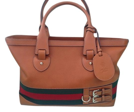 Gucci Satchel in NEW WITH TAGS MEDIUM BROWN/RED/GREEN