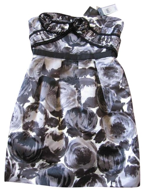 Preload https://item2.tradesy.com/images/bcbgmaxazria-black-white-gray-new-with-tags-flower-strapless-or-strap-cocktaildance-mini-formal-dres-3680416-0-0.jpg?width=400&height=650