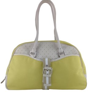 Cole Haan Yellow And White Travel Bag