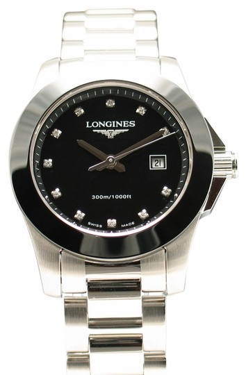 Preload https://item5.tradesy.com/images/longines-stainless-steel-black-ceramic-and-diamonds-new-conquest-with-bezel-dial-l32574576-l32574576-3680704-0-0.jpg?width=440&height=440