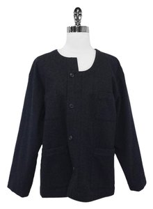 Comme des Garons Wool Asymmetrical Charcoal Jacket