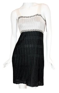 M Missoni short dress Black/White Sleeveless Knit New With Tags on Tradesy