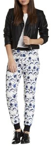 Romeo & Juliet Couture Floral Print Quilted Contrast Pants