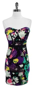 Tracy Reese short dress Print Cotton Strapless on Tradesy