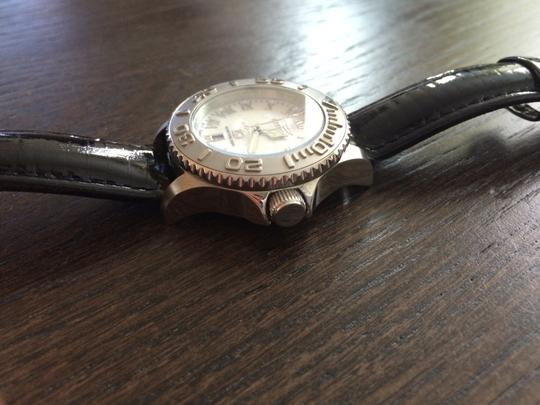 Invicta Invicta Stainless Steel Chronograph-Mother of Pearl Face-Black Patent Leather Interchangeable Straps