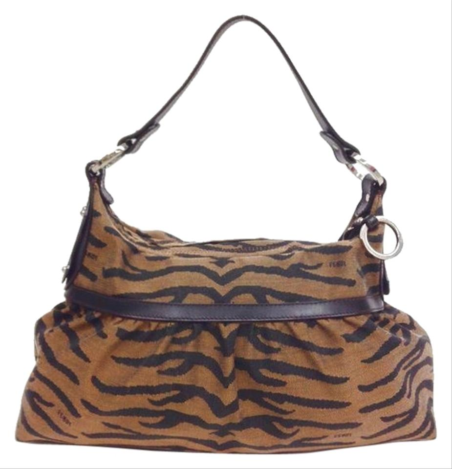 Fendi Tobacco Tiger Printed Zucca Chef Brown Canvas Hobo Bag - Tradesy 6f0f3f1288251