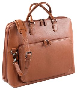 Levenger Leather Cross Body Adjustable Laptop Bag