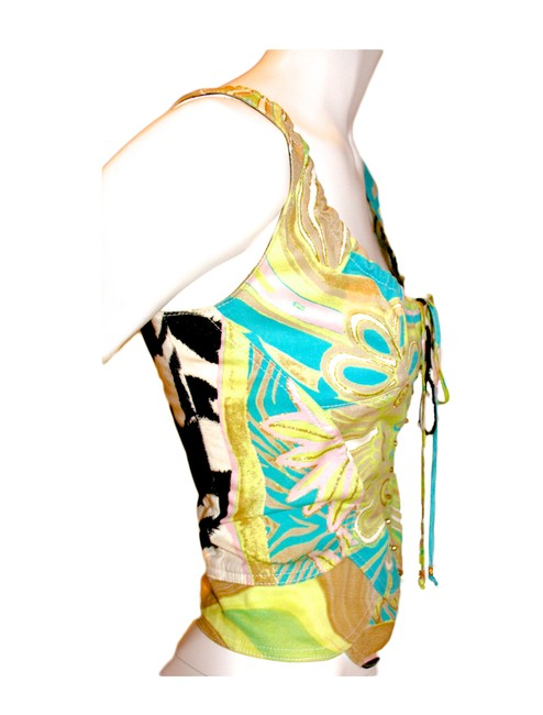 Roberto Cavalli Sexy Iconic Spring Corset Bustier Top Multi