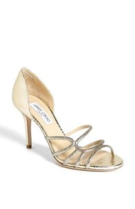 Jimmy Choo Straits Glittered Strappy D'orsay Sandal Wedding Shoes