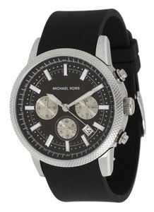 Michael Kors Michael Kors Men's Chronograph Scout Black Polyurethane Strap Watch 45mm MK8040