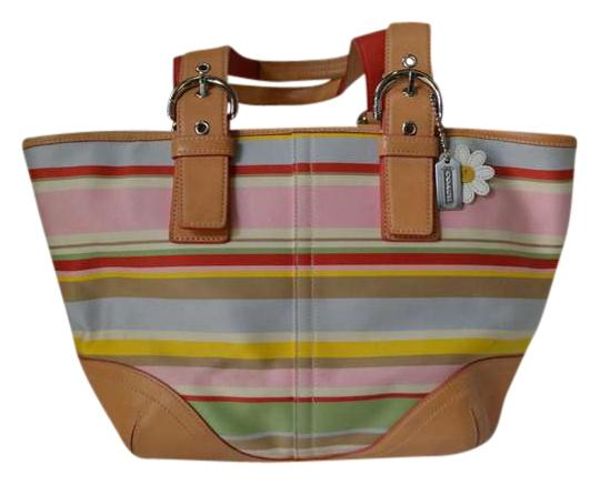 Coach Satchel in Multi - Striped
