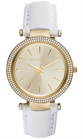 Michael Kors Michael Kors Women's Darci White Saffiano Leather Strap Watch 39mm MK2391