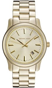 Michael Kors Michael Kors Women's Runway Gold Ion-Plated Stainless Steel Bracelet Watch 38mm MK5160