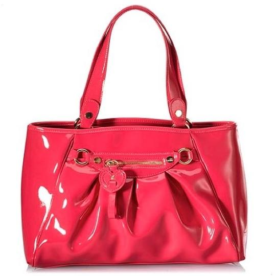 Love Moschino Borsa Manici Patent Leather Hot Pink Tote