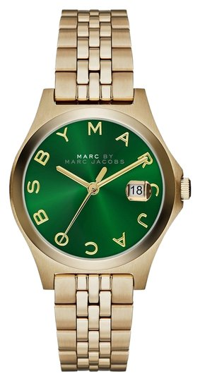Preload https://item5.tradesy.com/images/marc-by-marc-jacobs-marc-by-marc-jacobs-the-slim-mini-gold-tone-green-dial-watch-30mm-mbm3323-3682084-0-0.jpg?width=440&height=440