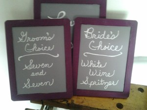 Michaels Plum Small Chalkboards with Stands and Pens Ceremony Decoration
