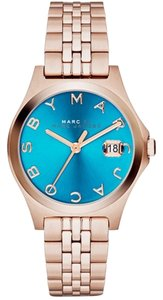 Michael Kors Marc By Marc Jacobs Women's Slim MBM3324 Rose Gold Stainless Steel Quartz Blue Dial Watch