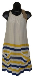 Marc by Marc Jacobs short dress Tan, yellow and blue Silk Sleeveless Summer Lightweight on Tradesy