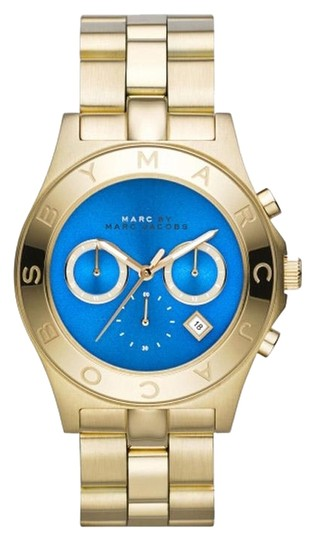 Preload https://item4.tradesy.com/images/marc-by-marc-jacobs-marc-by-marc-jacobs-women-s-chronograph-blade-gold-tone-stainless-steel-bracelet-watch-40mm-mbm3307-3682288-0-0.jpg?width=440&height=440