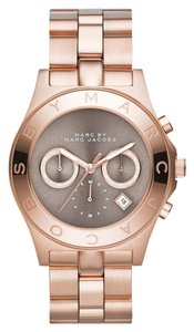 Marc by Marc Jacobs Marc by Marc Jacobs Rose Gold Blade Chronograph Grey Dial Watch mbm3308