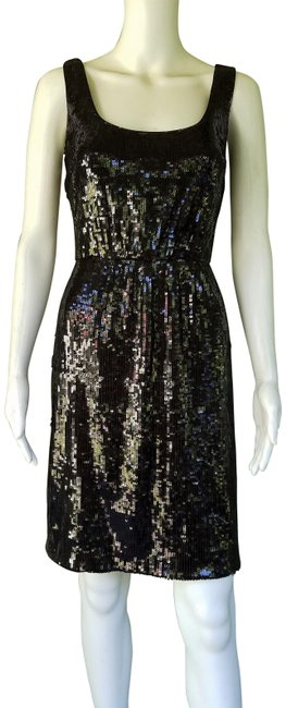 Item - Black Sequin Sheath Mid-length Night Out Dress Size 8 (M)