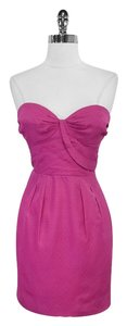 Leifsdottir short dress Pink Strapless Silk on Tradesy