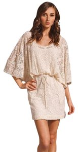 Anthropologie short dress White Lace Crochet Tunic on Tradesy