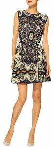 Anthropologie short dress Black Print Tea Sleeveless on Tradesy