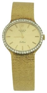 Rolex Rolex Lady's Yellow Gold and Diamond Cellini Bracelet Watch circa 1973