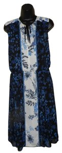 Adrianna Papell short dress Blue, black and white Lightweight Sleeveless Blue on Tradesy