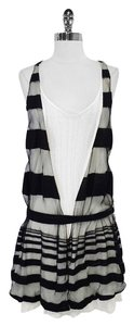 Thakoon short dress Black & white Cotton Sleeveless Drop Waist on Tradesy