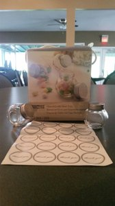 Party Favors - Glass Jars With Silver Tops