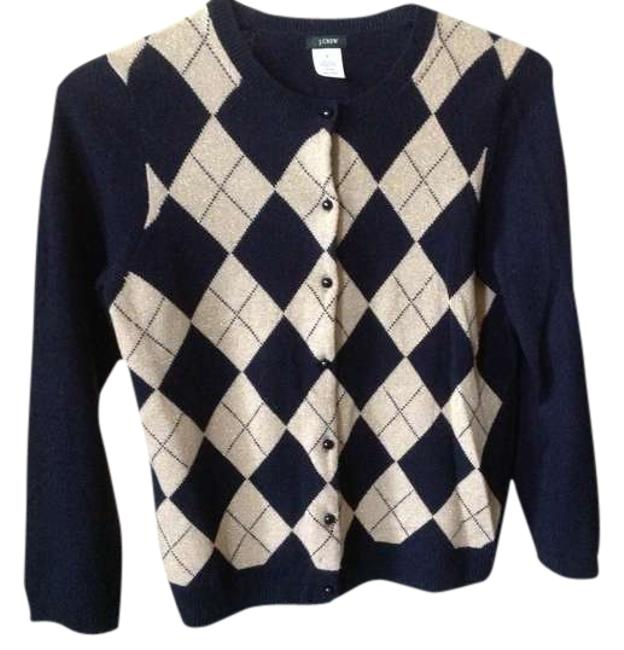 Item - Navy White and Gold Preppy Cardigan Size 8 (M)