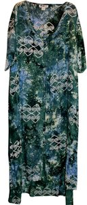 Green Maxi Dress by We Be Bop Ethnic Batik Tie Dye