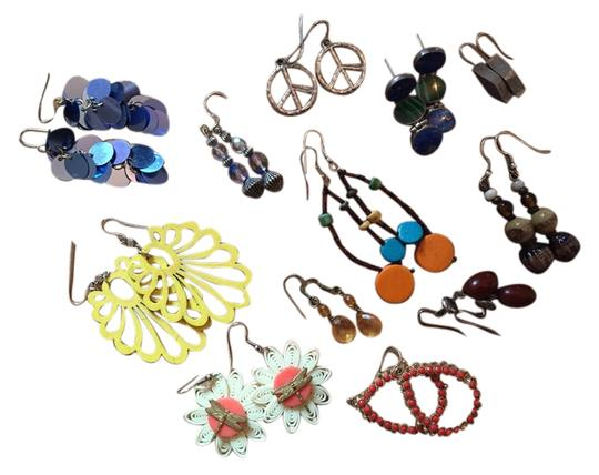 Other Set of 11 Pairs of Unique Boho Earrings