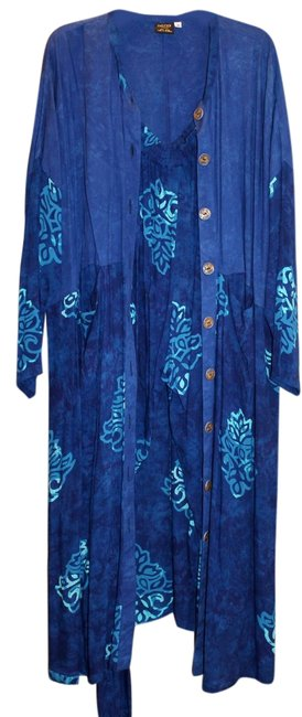 Sultry Touch Batik 3 Piece Outfit Scarf Pants Tunic