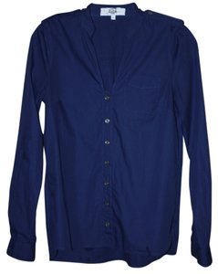 Tibi Button-up Shirt Size 0 / X-small Dark Cotton Sale Button Down Shirt Blue