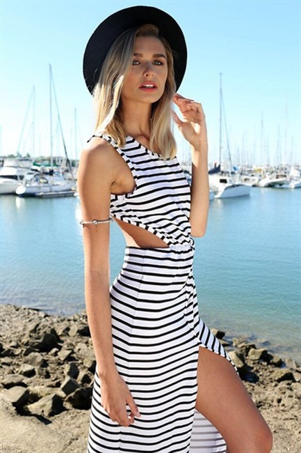 Black White Maxi Dress by Other Image 2