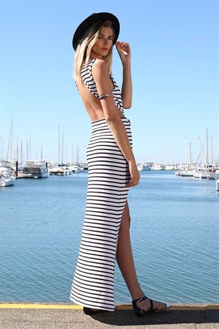 Black White Maxi Dress by Other Image 3