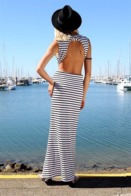Black White Maxi Dress by Other