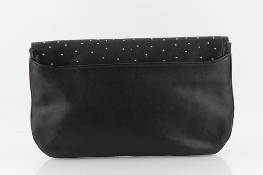 Jimmy Choo Studded Large Flap Late Night Club Black Clutch Image 1