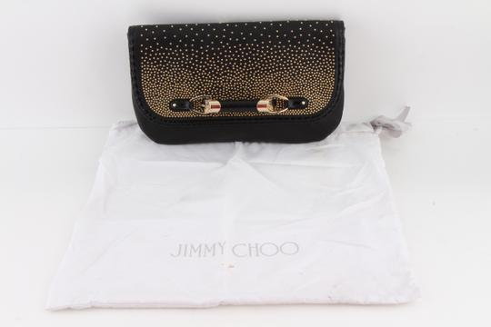 Jimmy Choo Studded Large Flap Late Night Club Black Clutch Image 11