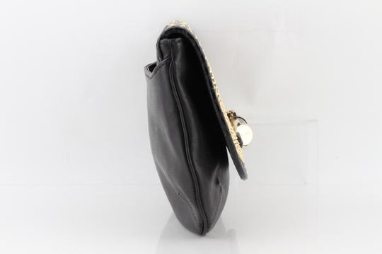 Jimmy Choo Studded Large Flap Late Night Club Black Clutch Image 2