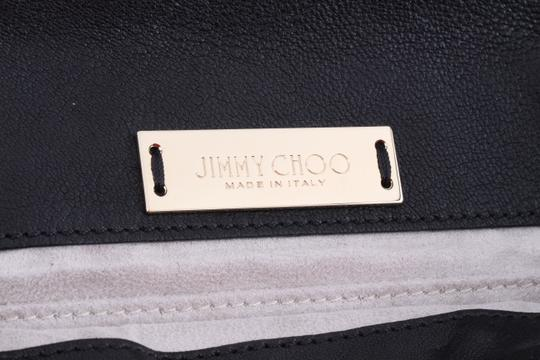 Jimmy Choo Studded Large Flap Late Night Club Black Clutch Image 8