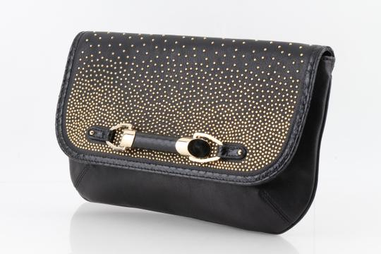 Jimmy Choo Studded Large Flap Late Night Club Black Clutch Image 9