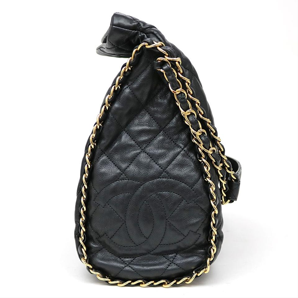 a3103779959a Chanel Hobo Jumbo Quilted Ultimate Soft Chain Around Tote Black Calfskin  Leather Shoulder Bag - Tradesy
