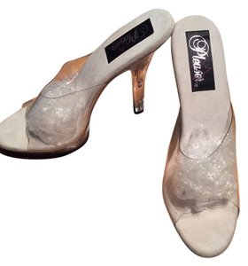 Pleaser Clear Mules