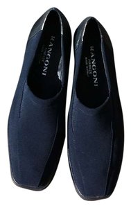 Rangoni Suede Leather Italian Navy Pumps