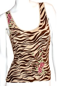 Blugirl Tank Made In Italy Animal Print Sweater