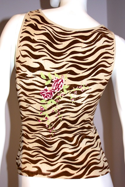 Blugirl Tank Made In Italy Spring Animal Print Sweater